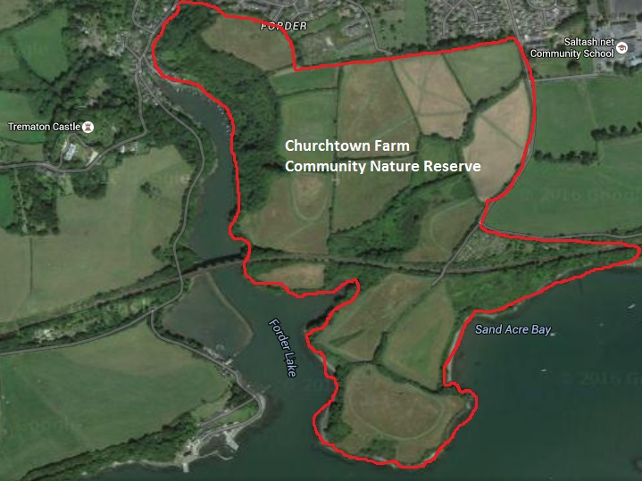 The reserve outlined in red