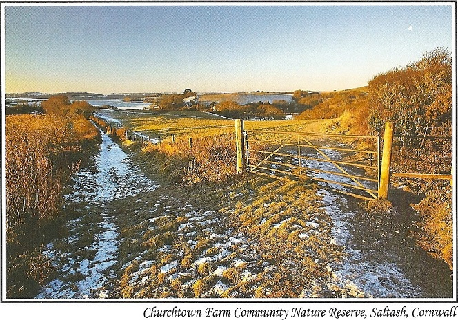 Churchtown winter scene