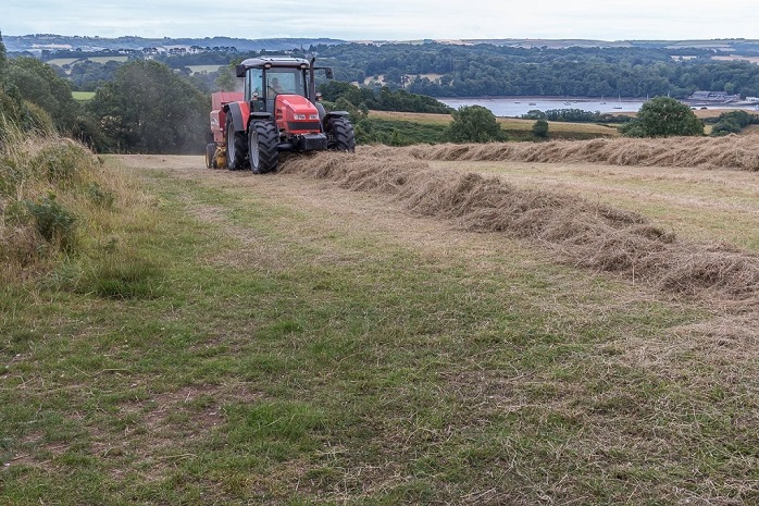 Hay making with Paul Maunder at Blackers field