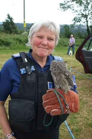 Owl with PCSO Mary Wells